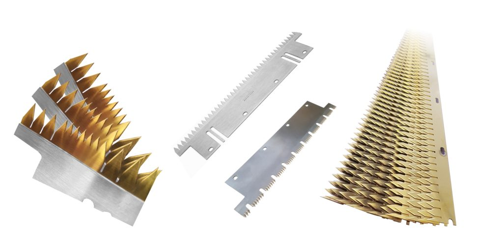 Machine knives for bag and sack making - Fernite bag knives - Manufactured in the UK by Fernite of Sheffield Ltd