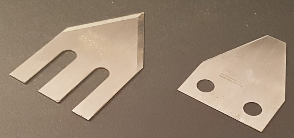 Parison Cutters / Stab Knives manufactured in the UK by Fernite of Sheffield Ltd