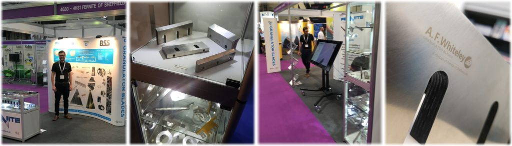 Fernite Machine Knives and A. F. Whiteley Granulator Blades at RWM 2018