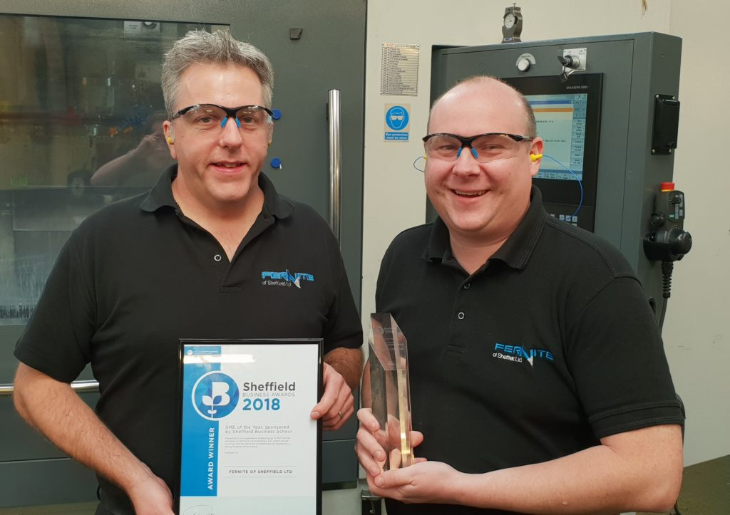 Fernite of Sheffield - SME of the Year 2018 at Sheffield Business Awards
