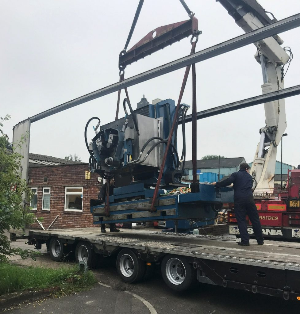 Fernite Machine Knives - New machine arriving at our Sheffield factory