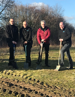 First sod done for the new factory